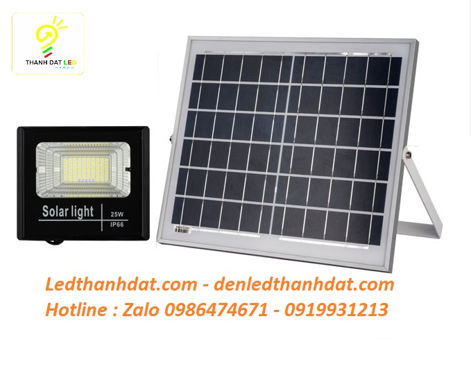 Đèn pha năng lượng mặt trời 25w