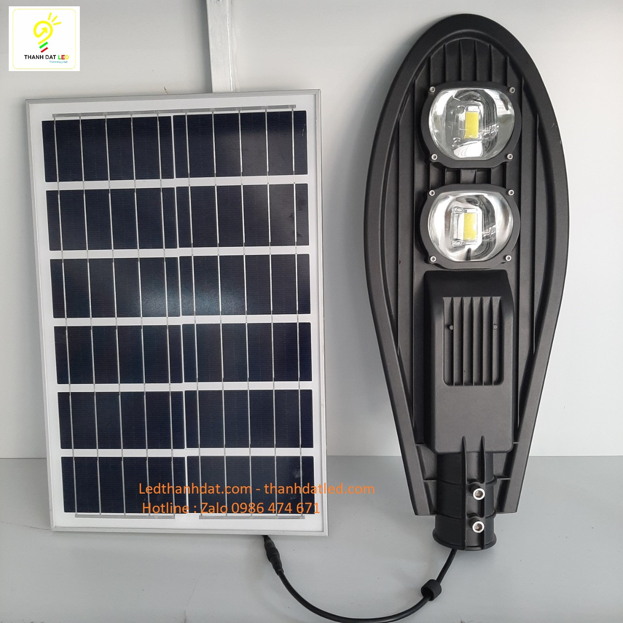 đèn đường lá năng lượng mặt trời 100w