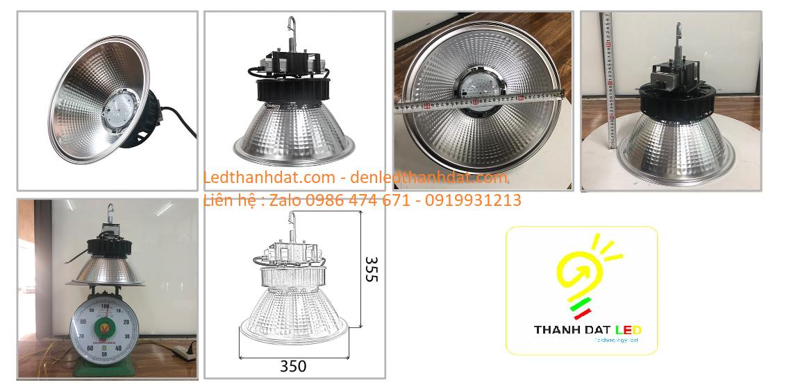 đèn chiếu sáng nhà xưởng highbay lowbay 60w
