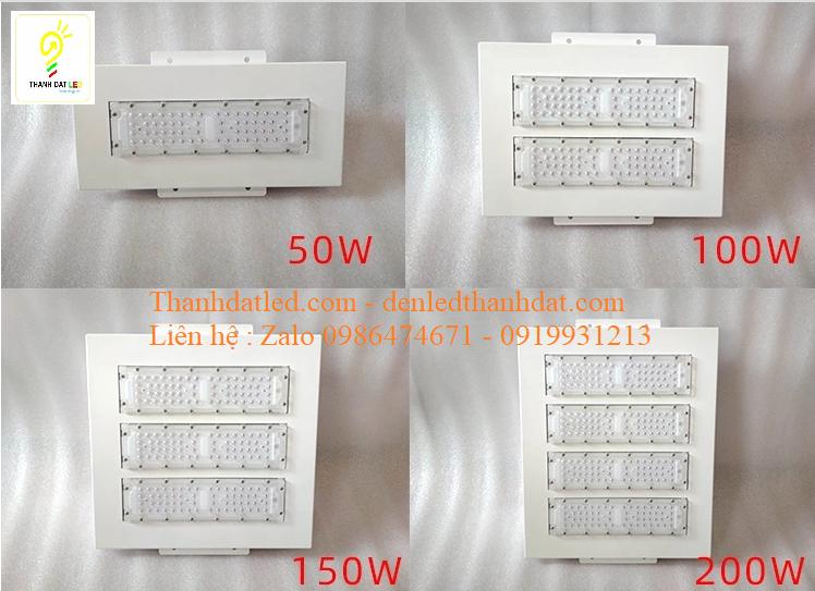 đèn led cây xăng trạm xăng 50w 100w 150w 200w