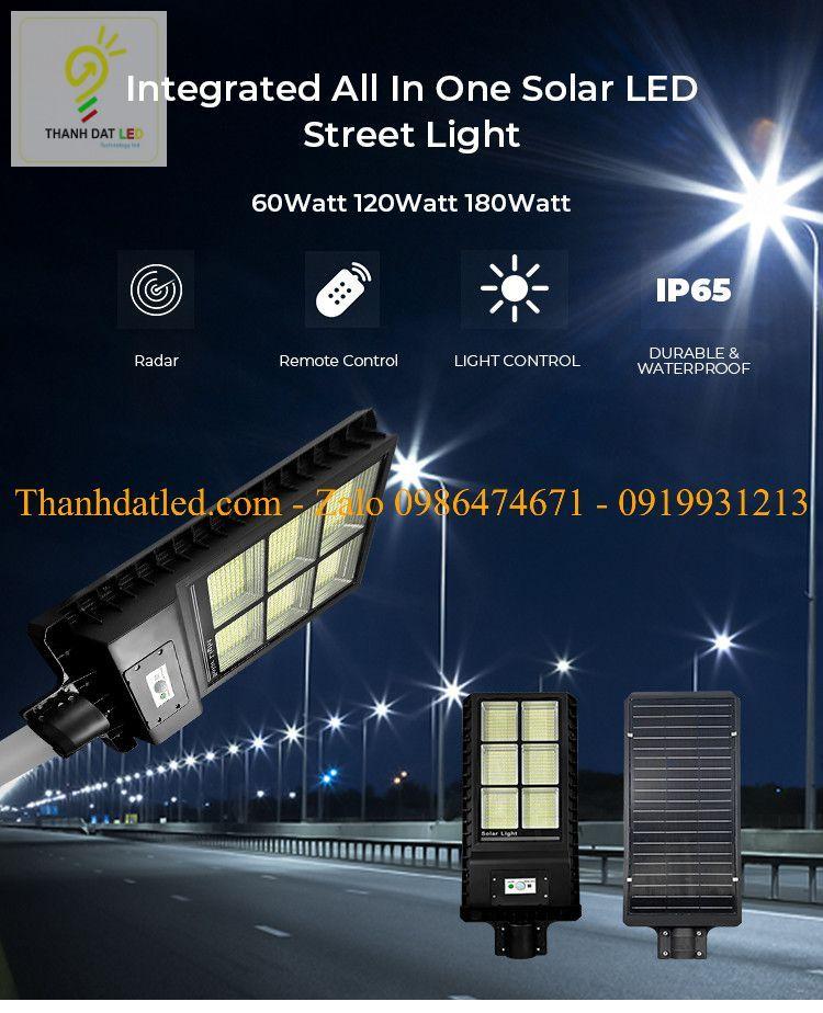 đèn đường năng lượng mặt trời liền thể TDLS21